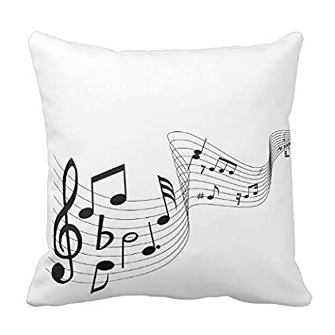 Generic Canvas Accent Pillow Musical Note Throw Pillow Case 18x18