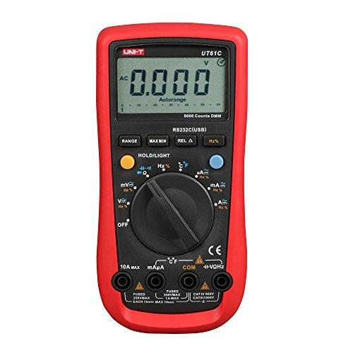 Uni-T UT61 C AC DC Digital Modern Digital Multimeter Tester USB Meter Detektor UT61C