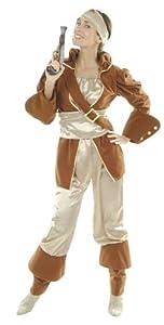 César - Disfraz de pirata para mujer (adulto), talla 38/40 cm
