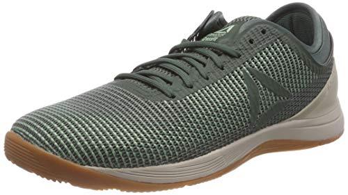 reebok r crossfit nano 8.0, scarpe da fitness uomo, verde industrial chalk green/parchment/gum, 47 eu