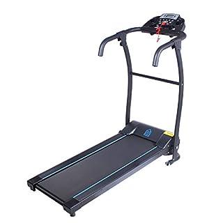 ARTE Home Motorisiertes Laufband, Fitnessgerät, LCD-Anzeige, 2 Trinkflaschenhalter, mit Rädern, klappbar, inkl. Trainingsprogrammen