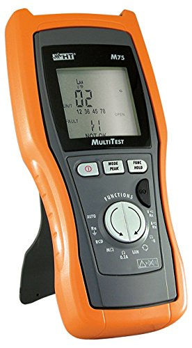 HT-Instruments Digitales Multimeter TRMS und VDE 0100-Tester plus LAN-Tester, M75