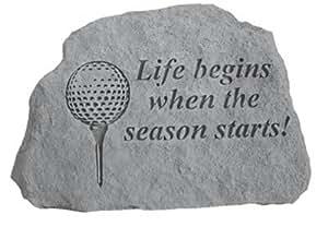 Kay Inc. Berry-70205 Golf-Leben beginnt, wenn die Saison beginnt - Great Thoughts - 6,25 Zoll x 5,75 Zoll