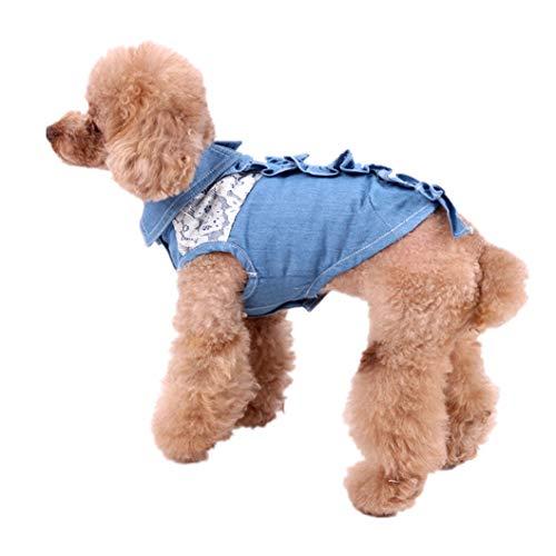 Womens Klassischen Anzug (AMURAO Sommer Haustier Hund Shirt Personalisieren Design Welpen Uniform Anzug Hunde Kleidung Haustiere Kleidung Katze Lace Lady Weste)