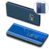COTDINFOR Mirror Makeup Case For Samsung J7 Prime Luxury