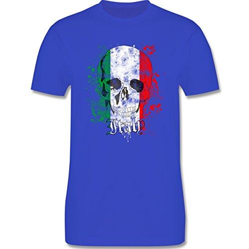 EM 2016 - Frankreich - Italy Schädel Vintage - Herren Premium T-Shirt Royalblau
