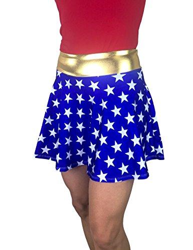 Smash Dandy Wonder Woman inspiriertes Laufsport-Kostüm - Blau - - Women's Golf Kostüm