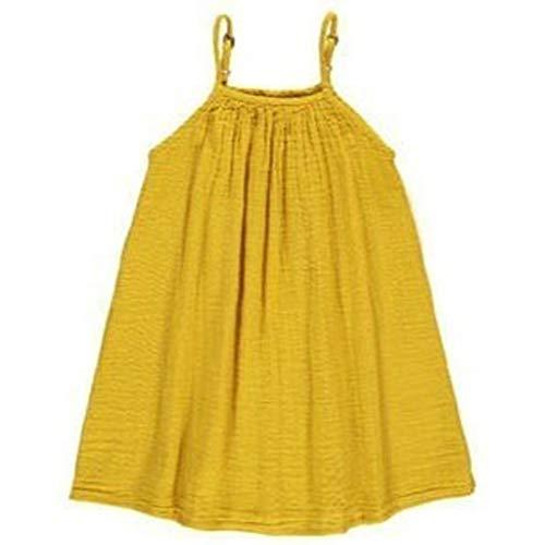 Yanhoo-Kinder Baby Kleinkind-Mädchen Langarm Herbst Karikatur Streifen Prinzessin Kleid ()