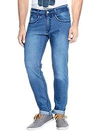 Urbano Fashion Light Blue Slim Fit Stretch Jeans For Men