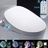 Siège de Toilette Électronique,Affichage LED HD Siège Chauffant Abattant de Toilettes Japonais WC Automatique Bidet Salle de Bains Abattant Nettoyage de Massage