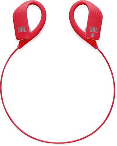 JBL Endurance Sprint Gancho de Oreja Binaural Inalámbrico Rojo - Auriculares (Inalámbrico, Gancho de Oreja, Binaural, Intraaural, 20-20000 Hz, Rojo)