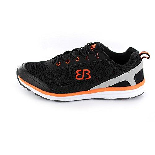 Brütting Element Sneaker, Scarpe sportive nero-arancione Unisex Nero/Arancione