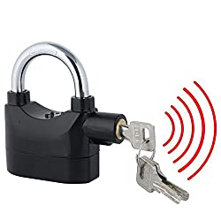 Keep your bike, garage door, garden shed, side gate, tool box or locker, or anything you desire secure with this Heavy Duty 110dB Siren Alarm Padlock. This innovative U lock comes equipped with two settings, armed and unarmed, so you can be alerted b...