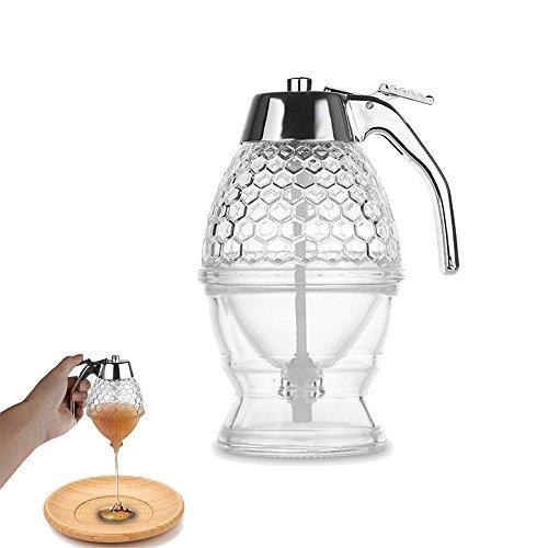 Onerbuy dispensador de miel o sirope, de capacidad, de acrílico, con gatillo y soporte, a prueba de roturas, sin BPA (200ML)