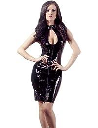 Black Level Robe Vinyle avec Fermeture Éclair Taille L