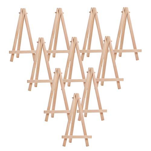 WANDIC Mini-Holz-Staffelei, 28 Stück, Holzfarben, Tisch-Staffelei für Kinder, Künstler, Erwachsene, Studenten, Klassenzimmer Wood Color