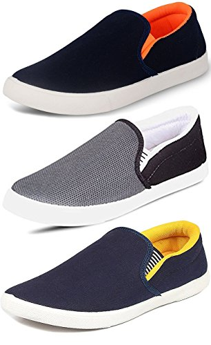 Ethics Men's Combo Pack of 3 Loafers Shoes (10)