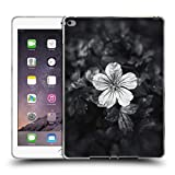 Head Case Designs Offizielle PLdesign Schwarz Weisse Blumenblaetter Blumen Und Blaetter Soft Gel Hülle für iPad Air 2 (2014)