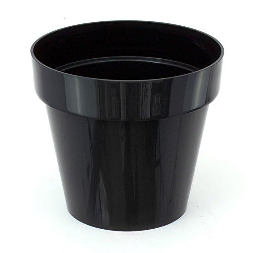 Pot de fleur Cube Shine 2.2 Lt, en noir brillant