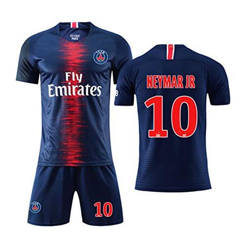 HS-FWJ.HW Neymar Da Silva Santos Júnior NO.10 Paris Saint-Germain Football Club Football Anzug Anzug Kinder Lose Atmungsaktiv Uniformen Home Jersey Set,L(175~180cm)