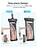 Mpow Waterproof Case Phone Pouch Unique One-Piece Design Full Transparency IPX8 Dry Bag, Black, for iPhone XS Max/XR/X Galaxy S10/S9/S8 Google Pixel and All Devices up to 6.8, 2-Pack