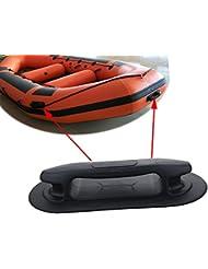 2poignée de levage/Attache pour bateau Raft Dinghy gonflable Noir
