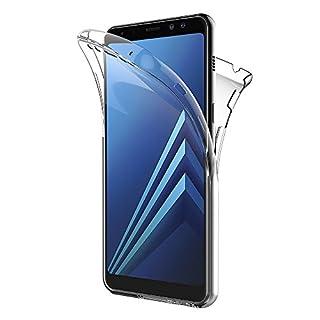 AICEK Samsung Galaxy A8 2018 Hülle, Schwarz Silikon Schutzhülle für Samsung A8 2018 Case TPU Bumper Galaxy A8 2018 Handyhülle (5,6 Zoll)