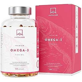 Olio di pesce con Omega 3 [ 2000 mg ] – Elevata Potenza – Distillato Molecolarmente – Fonte di Acidi Grassi – 800 mg di…