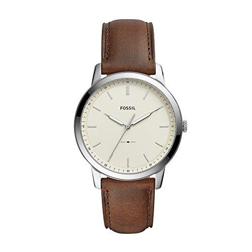 Fossil Herren Analog Quarz Smart Watch Armbanduhr mit Leder Armband FS5439