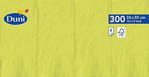 Duni 1786482lagig Tissue Servietten, 33cm x 33cm, vorgefalzt, 1/8Falz, kiwi (1200Stück) - Tissue-papier Wirtschaft