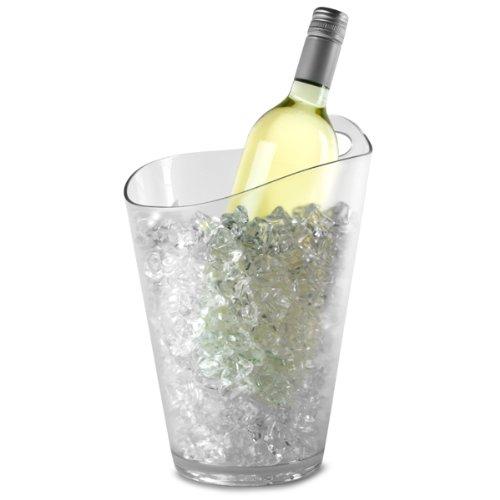 Salsa vin &Seau à Champagne/vin en polystyrène transparent-Seau à Champagne/vin Seau refroidisseur à Champagne en plastique en forme de seau