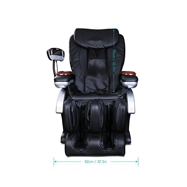 Naipo Shiatsu Massage Stuhl Ganzkrper Massagesessel Fernsehsessel Entspannungssessel Mit S Schiene Heizungs Therapie Luft Massage System Klopfen Schlagen Rollen Und Knetenmassage