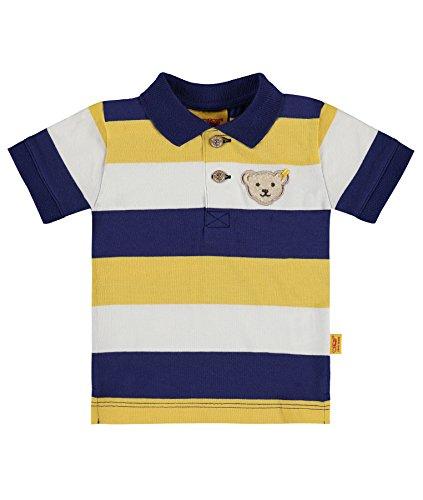 Steiff Baby-Jungen Poloshirt 1/4 Arm, Mehrfarbig (Y/D Stripe 0001), 62