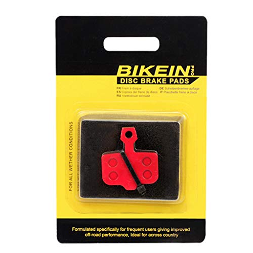 Baoblaze 1 Paar 35mm Fahrrad Bremsbeläge Fahrradscheiben Scheibenbremsbeläge Bremsbelag Rennrad Zubehör Erzatzteile Keramik Rot -