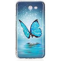 Étuis magnifiques, couvertures, Pour Etuis coque Phosphorescent IMD Motif Coque Arrière Coque Papillon Flexible PUT pour SamsungJ7 (2016) J7 Prime J7 J5 (2016) J5 Prime ( Modèles Compatibles : Galaxy J5(2016) )
