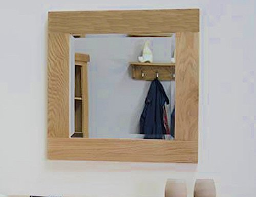 Reclaimed Wood Mirror Small Square Mirror Bathroom Mirror: Yabbyou Small Solid Oak Mirror 60cm X 60cm Square Mirror