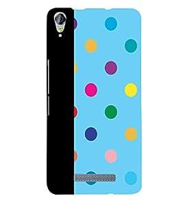 Fiobs dot pattern unique creative art rainbow colours Designer Back Case Cover for Micromax Canvas Juice 3 plus Q394