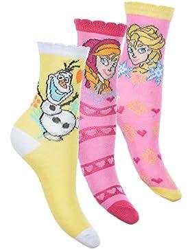 6 pares de calcetines algodon surtido varios colores diseño Frozen (Elsa y Anna) Disney 27-30 y 31-34 alta calidad