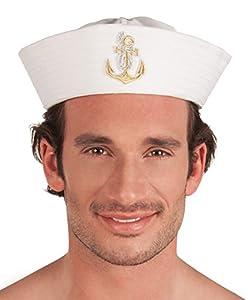 Boland 44359 - Marina sombrero de marinero Dylan para adultos, un tamaño, weiߟ