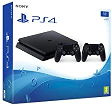 PlayStation 4 (PS4) - Consola de 1 TB + 2 Dual Shock 4 Wireless Controller