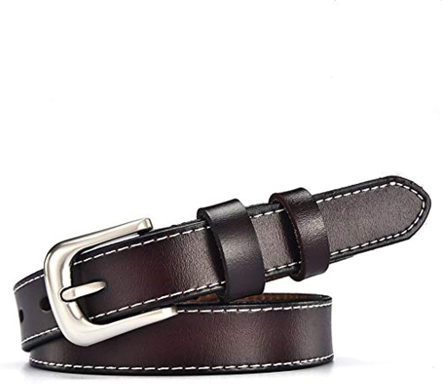 GAOQINGFENG Italian Cowhide Leather Belt with Simple Pure Belt ... 831ba8968a69