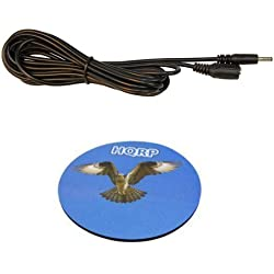 HQRP 1.35mm / 3.5mm Male to Female DC Power Extension Cable for CCTV Camera / Recorder / Monitor / Printer plus HQRP Coaster