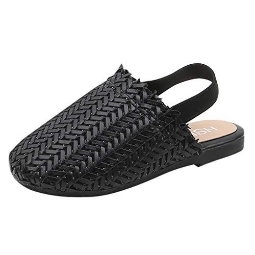 Dtuta Kinderschuhe Kinder MäDchen Retro Gewebt Zehenkappe Schuhe Prinzessin Schuhe Einzelne Schuhe Sandalen Elastische TräGer Bequem Atmungsaktiv