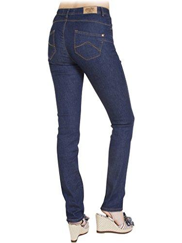 Carrera Jeans - Jeans 753 7530987A per donna, modello a sigaretta, look denim, tessuto elasticizzato, vestibilità slim, vita alta 101 - Lavaggio blu scuro