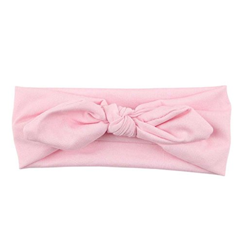 Tonsee® Femmes Yoga élastique Bow Hairband Turban noué lapin cheveux bande serre-tête