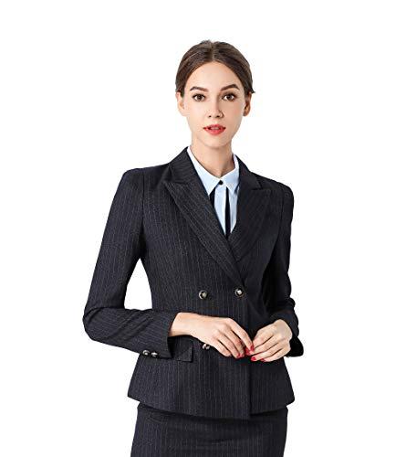 1d82e9655a96 Rojeam Donna Elegante Tailleur Pantalone Tailleur Gonna Classico per  Ufficio Donna Giacca Camicia per Primavera Autunno