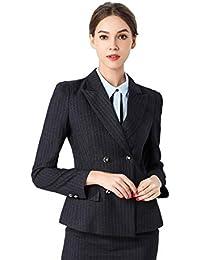 e4a28f4913e5 Rojeam Donna Elegante Tailleur Pantalone Tailleur Gonna Classico per Ufficio  Donna Giacca Camicia per Primavera Autunno