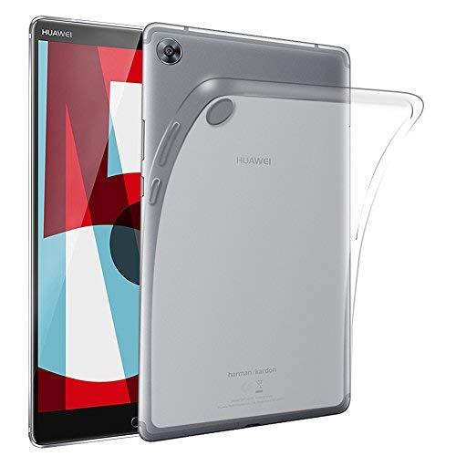 Gosento Huawei MediaPad M5 (8,4 Zoll) Hülle TPU Case, Soft Premium Flex Silikon Backcover Ultra Dünn Clear Semi-transparent Schutzhülle Tablet Cover für MediaPad M5 8.4 (Matt transparent)EINWEG