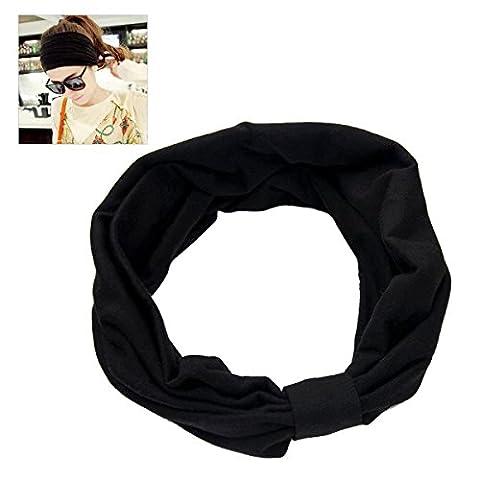 Soft Cotton Elastic Headband, NATUCE Handmade Multi-purpose Magic Scarf Headwear Bandanas for Sports, Yoga, Leisure and Fashion -