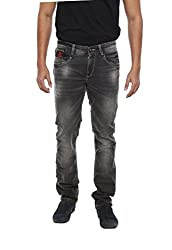 Spykar Mens Black Skinny Fit Low Rise Jeans (Actif) (28)